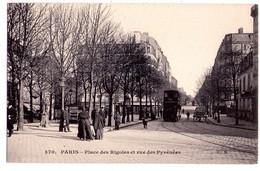 1861 - Paris ( 20e ) - Place Des Rigoles Et Rue Des Pyrénées - C.M. éd. - N°370 - - Arrondissement: 20