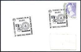 VOLLEYBALL - ITALIA TORINO 2011 - KINDERIADI - 28° TROFEO DELLE REGIONI DI PALLAVOLO - SMALL SIZE CARD - Pallavolo