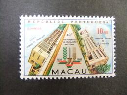 Macao Macau 1966 40 Aniversario De La Revolucion Yvert 401 * MH - Unused Stamps