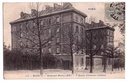 1862 - Paris ( 20e ) - Bastion XVII - Boulevard Mortier - 5ème Section D'Inffirmiers Militaires - C.P. éd. - N°215 - - Arrondissement: 20