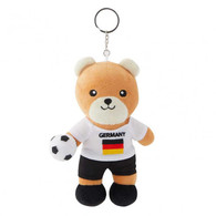 FIFA WORLD CUP 2018 - GERMANY 17cm SOFT TEDDYBEAR MASCOT WITH KEY-RING - BIG C THAILAND LIMITED ISSUE - Apparel, Souvenirs & Other