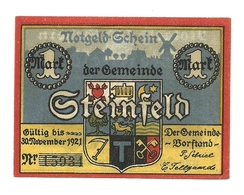 1921 - Germania - Steinfeld Notgeld N38, - [11] Emissioni Locali