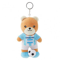 FIFA WORLD CUP 2018 - ARGENTINA 17cm SOFT TEDDYBEAR MASCOT WITH KEY-RING - BIG C THAILAND LIMITED ISSUE - Apparel, Souvenirs & Other