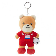 FIFA WORLD CUP 2018 - RUSSIA 17cm SOFT TEDDYBEAR MASCOT WITH KEY-RING - BIG C THAILAND LIMITED ISSUE - Apparel, Souvenirs & Other
