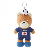 FIFA WORLD CUP 2018 - JAPAN 17cm SOFT TEDDYBEAR MASCOT WITH KEY-RING - BIG C THAILAND LIMITED ISSUE - Apparel, Souvenirs & Other