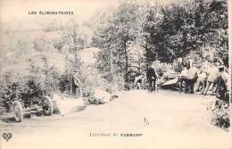 63 . N° 48170 . L Accident De Farman . Les Eliminatoires.course De Voitures.rallye.pilote.coupe Gordon-bennett - France