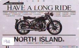 Télécarte Japon * MOTOR * (1900) Phonecard Japan * TELEFONKARTE * MOTORBIKE * MOTOR RACE - Motos