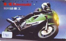 Télécarte Japon * MOTOR * (1901) Phonecard Japan * TELEFONKARTE * MOTORBIKE * MOTOR RACE - Motos