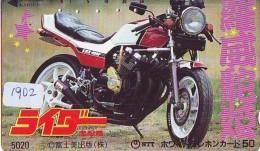 Télécarte Japon * MOTOR * (1902) Phonecard Japan * TELEFONKARTE * MOTORBIKE * MOTOR RACE - Motos