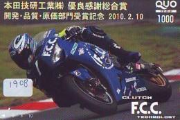 Carte Prepayee Japon * MOTOR * (1908) Prepaid Card Japan * KARTE * MOTORBIKE * MOTOR RACE - NICKY HAYDEN - Motos