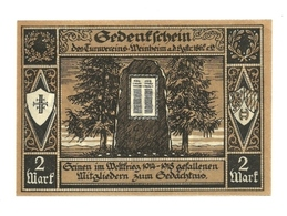 1922 - Germania - Weinheim Notgeld N39 - [11] Emissioni Locali