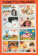 [DC0190] CPM - CARTOLINEA - FUMETTO ITALIANO - RIPRODUZIONE FOGLIETTO FRANCOBOLLI SAN MARINO - Non Viaggiata - Fumetti