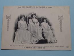 LA MI-CAREME A PARIS Mlle Augustine ORLACH / Victorine Hervé Et Marie SALAT .........( ELD ) Anno 19?? ( Voir Photo ) ! - Familles Royales