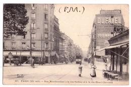 1864 - Paris ( 20e ) - Rue Ménilmontant à La Rue Sorbier Et à La Rue Henri Chevreau - F.F. - N°617 - - Arrondissement: 20