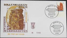 BERLIN 1990 Mi-Nr. 874 Unterrand FDC - FDC: Buste