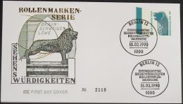 BERLIN 1990 Mi-Nr. 863 Randstück FDC - FDC: Buste