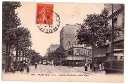 1865 - Paris ( 20e ) - Avenue Gambetta Vers La Place - N°1604 - - Arrondissement: 20