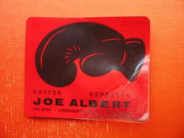 CALENDAR(PLASTIC+PAPER).JOE ALBERT KAFFEE,WIEN. - Boxe