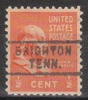 USA Precancel Vorausentwertung Preo, Locals Tennessee, Brighton 729 - Vorausentwertungen