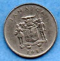 (r65)   JAMAIQUE / JAMAICA  10 CENTS 1982 - Jamaique