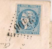 LAC MONISTROL Haute Loire GC 2406 Sur 20c BORDEAUX Pour ODENAS . - Marcophilie (Lettres)
