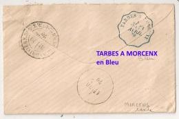 29 AVRIL 78. Convoyeur BLEU TARBES A MORCENX Landes. MAUBOURGUET Hautes Pyrénées Sur SAGE. - Postmark Collection (Covers)