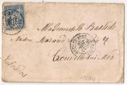 PARIS GROS CAILLOU Sur Enveloppe SAGE Pour TROUVILLE SUR MER. - Marcophilie (Lettres)