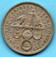 (r65)  BRITISH EAST CARIBBEAN / 50 CENTS 1955 - Territoires Britanniques Des Caraïbes