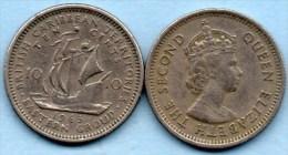 (r65)  BRITISH CARIBBEAN / 10 CENTS 1965 - Caraïbes Orientales (Etats Des)