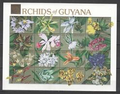 H430 GUYANA PLANTS FLOWERS ORCHIDS 1SH MNH - Orchids