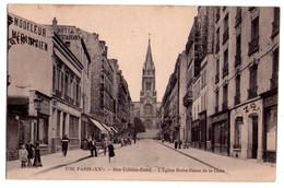 1870 - Paris ( 20e ) - Rue Etienne Dolet ( L'Eglise Notre Dame De La Croix ) - N°1716 - F.Fleury éd. - - Arrondissement: 20
