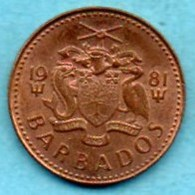 (r65)   BARBADES / BARBADOS  1 CENT 1981  Km#10 - Barbados
