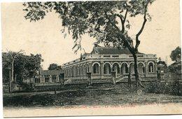 INDOCHINE CARTE POSTALE DE COCHINCHINE -BARIA -LA MAISON COMMUNE AYANT VOYAGEE - Postales