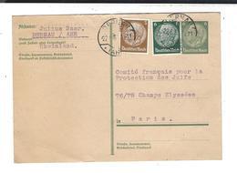 Judaica Julius Baer Dernau Ahr Au Comité Français Pour La Protection Des Juifs 22.6.1933 - Autographs