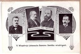 LATVIA. LETTLAND. V VISPAREJO LATVIESU DZIESMU SVETKU VIRSDIRIGENTI. RIGA. 1910. Photo Postcard RRR - Latvia
