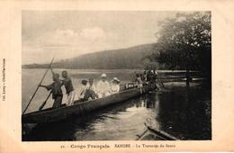 CONGO FRANCAIS - BANGHI LA TRAVERSEE DU FLEUVE - Französisch-Kongo - Sonstige