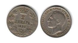 SERBIE  2 Dinar 1925  Serbia - Serbie