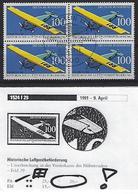 Germany 1991  Historische Luftpostbeforderung (o) Mi.1524 - [7] Federal Republic