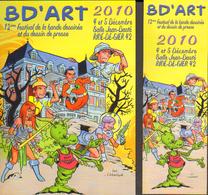 CORNILLON Duo (carte + Marque Page) Salon BD ART 2010 - Marque-pages