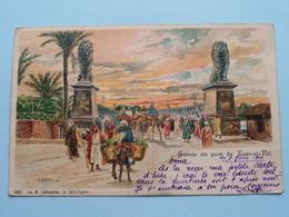 Entrée Du Pont De KASR-EL-NIL ( Qasr Al-Nil ) ( 6087 - Jos M. Lichtenstein ) Anno 1900 ( Voir Photo ) ! - Le Caire