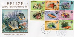 BELIZE  - 1984 -1988 Marine Life From The Belize Coral Reef  FDC5389 - Belize (1973-...)