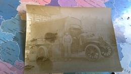 Photo D époque Guerre 14 =18 Petite Synthe  Camion Militaire - Guerre, Militaire