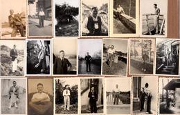 Lot De 23 Photos Amateurs Originales Gay & Playboys Des Années 1930 à 1960 Dans Divers Situations - Personnes Anonymes