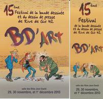 PICA Duo (carte + Marque Page) Salon BD ART 2013 - Marque-pages