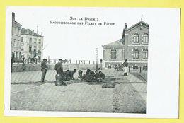 * Blankenberge - Blankenberghe (Kust - Littoral) * (VED) Raccommodage Des Filets De Peche, Sur La Digue, Hotel Estacade - Blankenberge