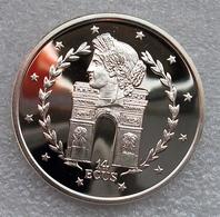 Gibraltar, 14 Ecu, 1995, QP, Zilver .925 In Capsule - Gibraltar