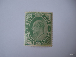 INDIA 1906. King Edward VII. INDIA POSTAGE REVENUE Half Anna, 1/2 A. SG 149 MH - India (...-1947)