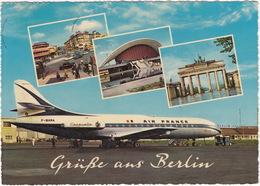 Berlin - Tegel : F-BHRA CARAVELLE - AIR FRANCE ALSACE - Flughafen / Aeroport - 1962  - (BRD) - Tegel