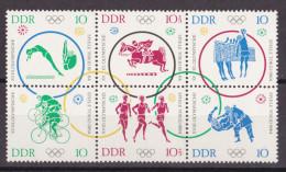 Rie_ DDR - Mi.Nr. 1039 - 1044 Sechserblock - Postfrisch MNH - Ungebraucht
