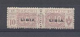 1915-24 Libia Pacchi Postali Lire 10 Nuovo ** - Libia